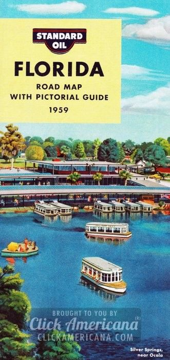 Map Of Florida Roads.Cross The Country With These Vintage Us Road Maps Florida Road Map