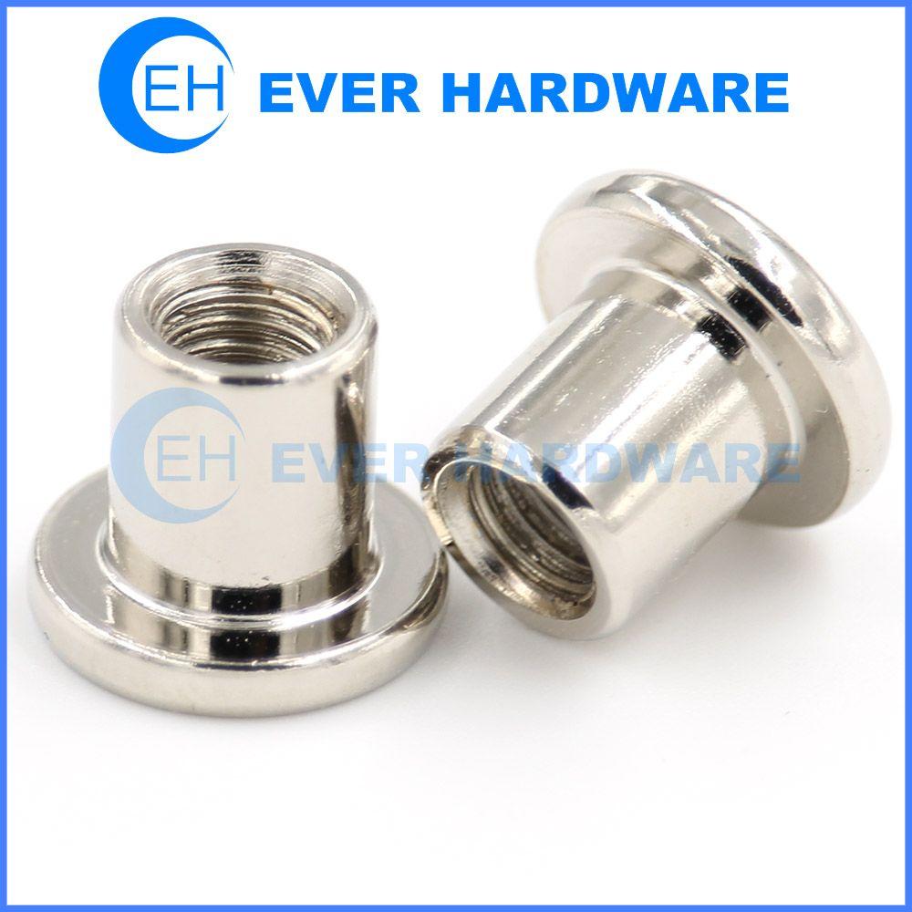 Chrome Screws Flat Head Internal Thread Cap Bolt Light Coated Nuts Flat Head Internal Thread Chrome
