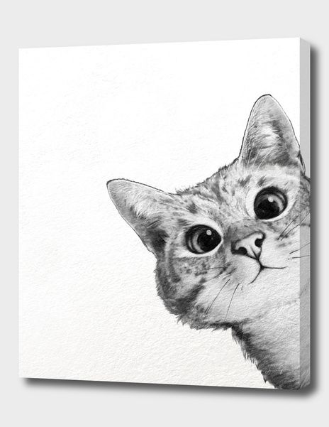 «sneaky cat» Canvas Print by Laura Graves - Numbered Edition from $59 | Curioos