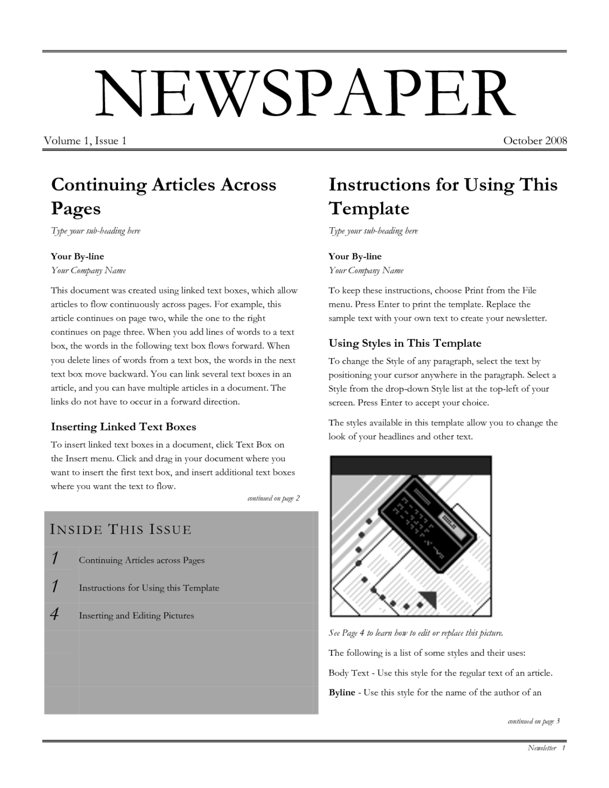 Free Newspaper Template Download Free Clip Art Free