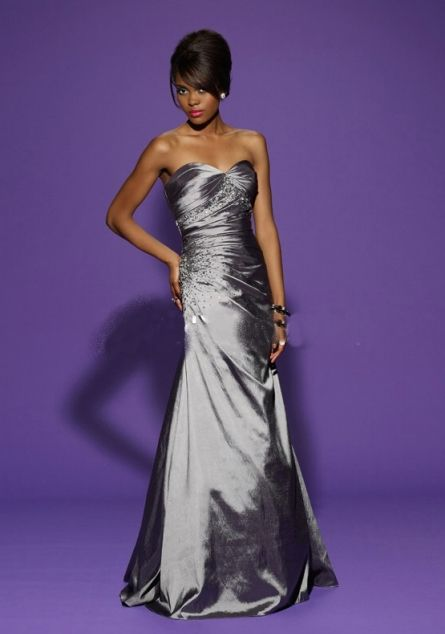 Robe cocktail mariage grise