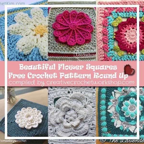 Beautiful Flower Squares Crochet Patterns Crochet Tutorials