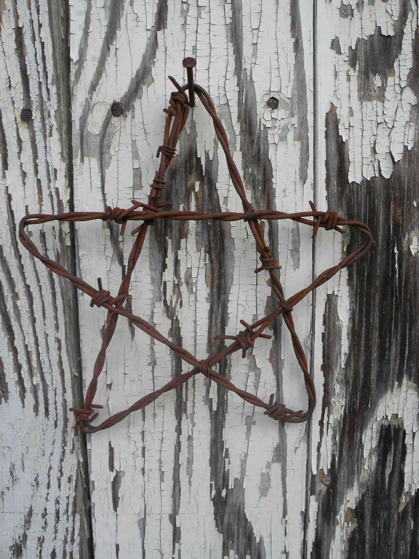 Barbed Wire Art   Barbed wire art, Wire art and Red white blue