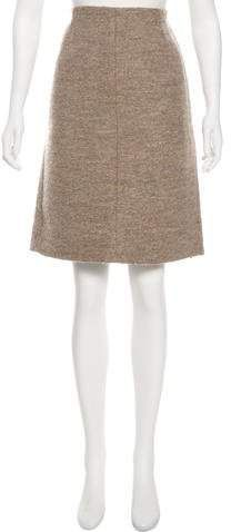 feeef0e51f Marc Jacobs Virgin Wool-Blend Shearling Skirt | Products | Tweed ...