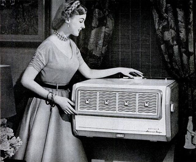 philco air conditioner 1953, via Flickr.
