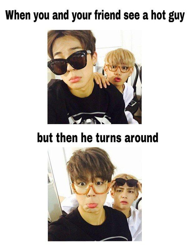 Bts Funny Kpop Meme Myedit V Jimin Taehyung Taetae Chimchim