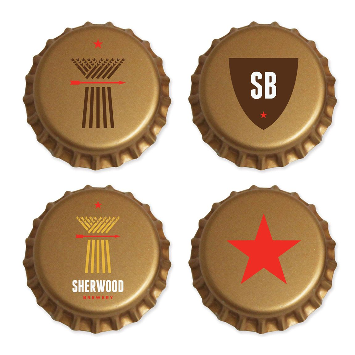 Bottle Cap Packaging Design for Sherwood Brewery (With