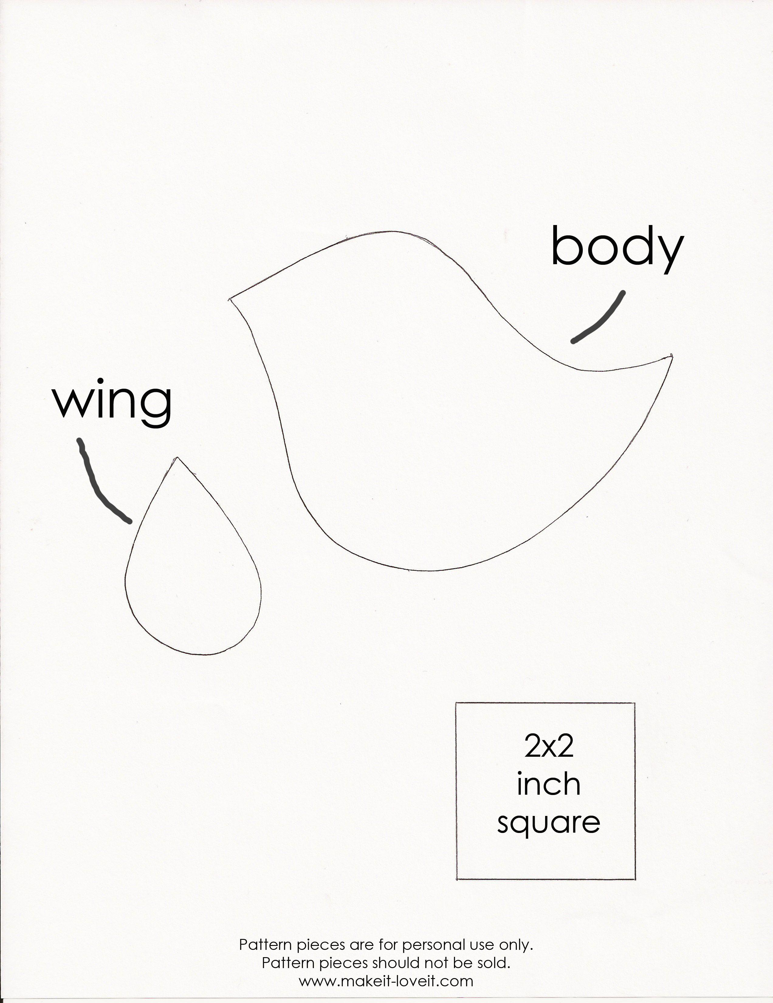 little-birdie.jpeg (2544×3303) | Patrones de costura | Pinterest ...