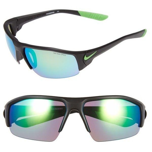 719cb89193c8 Women's Nike 'Skylon Ace XV' 75mm Polarized Sunglasses ($130) ❤ liked on  Polyvore featuring accessories, eyewear, sunglasses, sporty sunglasses,  polarized ...