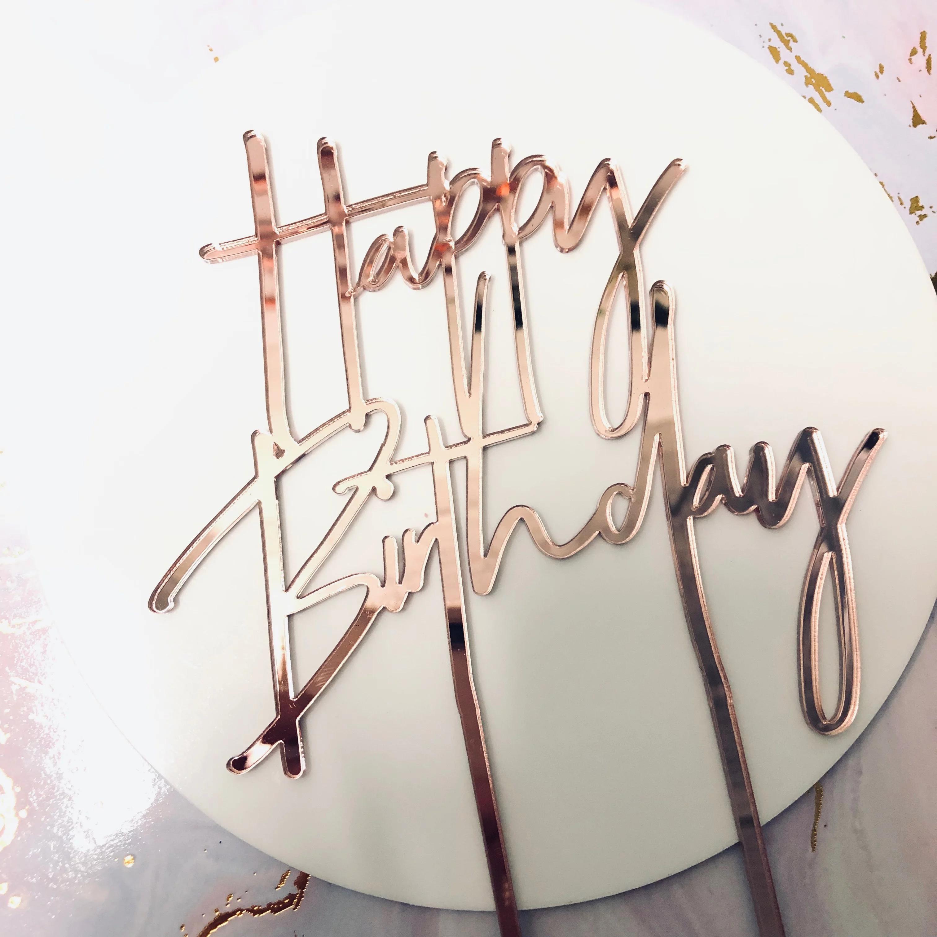 Happy Birthday Cake Topper poshtoppers Cake toppers