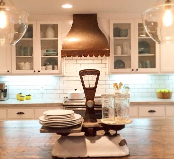 Completely Obsessed With This Copper Scalloped Range Hood Want Fixer Upper Kitchen Kitchen Redo New Kitchen
