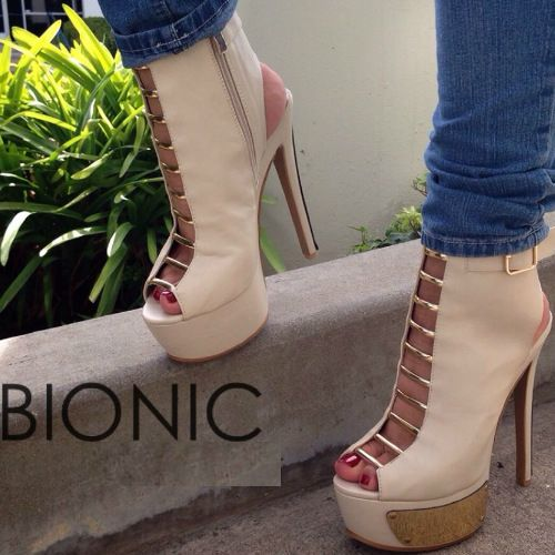 Peep Toe Strappy Cut Out Booties