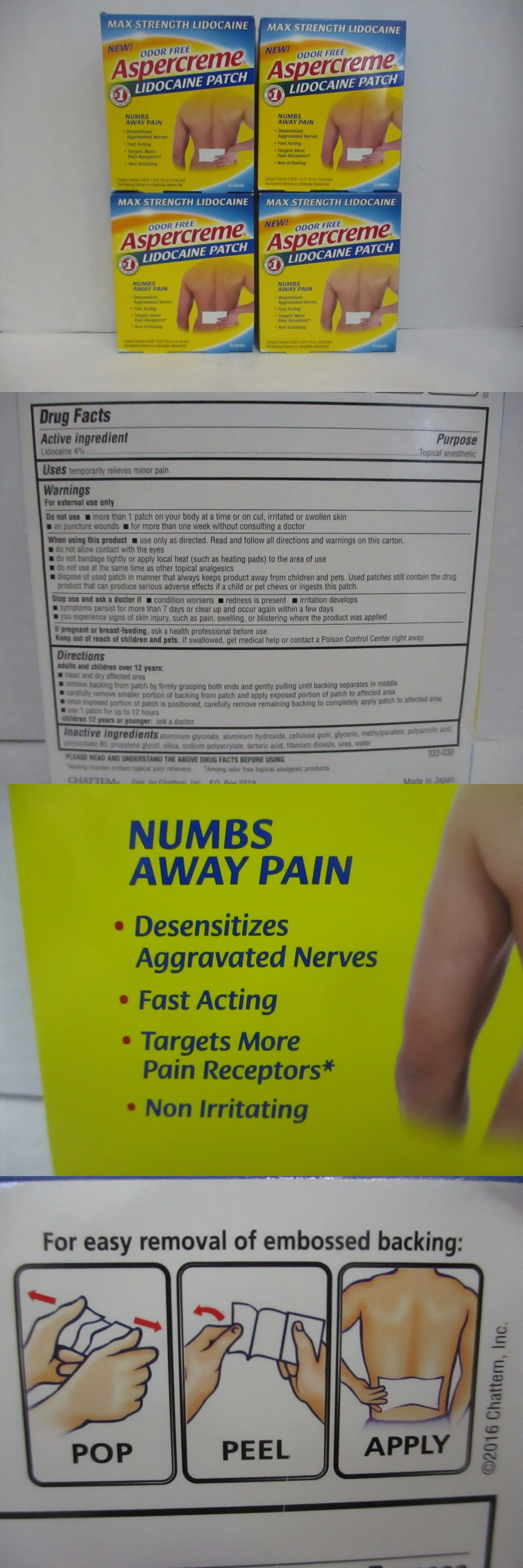 Pain And Fever Relief 4 Aspercreme Lidocaine Pain Patch Max