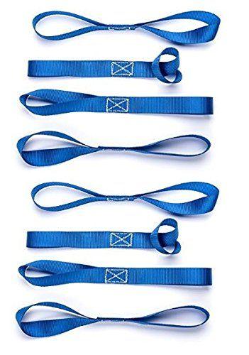 Cartman Soft Loop Tie Down Straps In Blue Color 8pk X 18in 3600lbs Tie Down Straps Straps Tie Down Strap