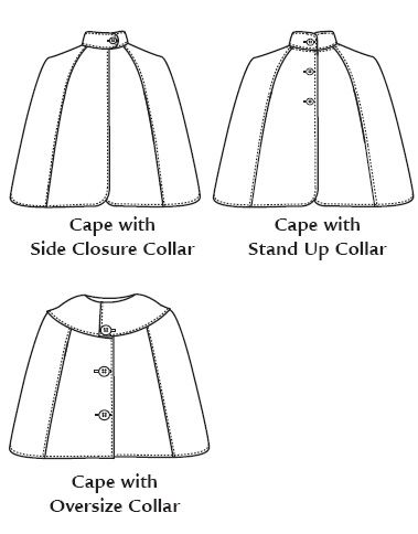 Cape Pattern Free : pattern, Favorite, Things, V031-, Sweet, Es-Cape, Cloak, Pattern,, Pattern, Sewing,, Sewing