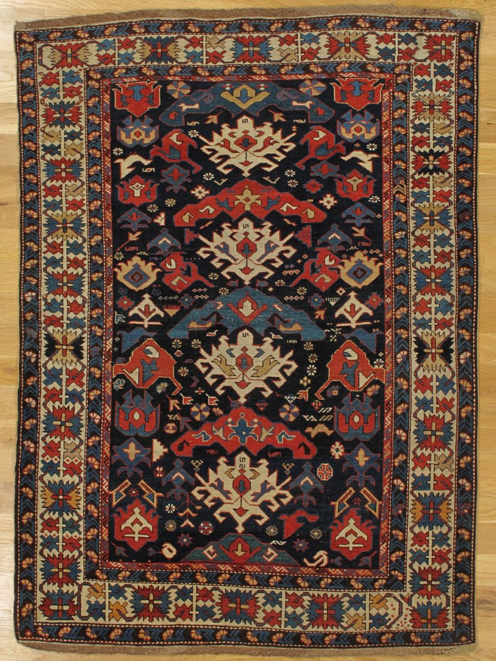 Bidjow Rug From Eastern Caucasus Age Circa 1875 Size 5 6 X3 11 168x119 Cm Sold Rugs Antique Rugs Rugs On Carpet