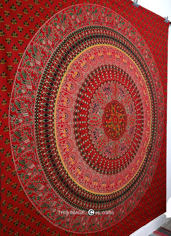 LARGE hippy mandala tapestry bohemian bedspreadindian by eLcrafto