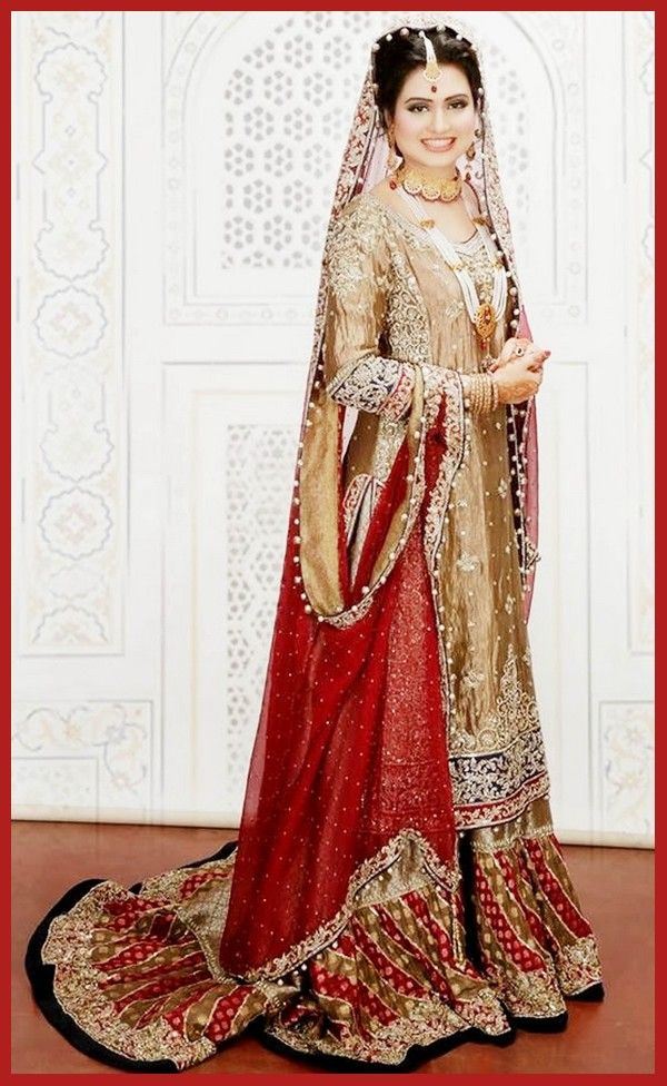 Fancy Pakistani Sharara Bridal Dress