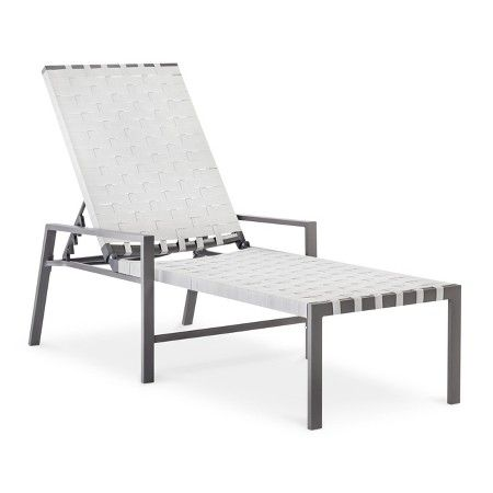 blake metal woven strap chaise lounge - threshold™ : target
