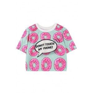 Cookie de impresión recortada camiseta de manga corta