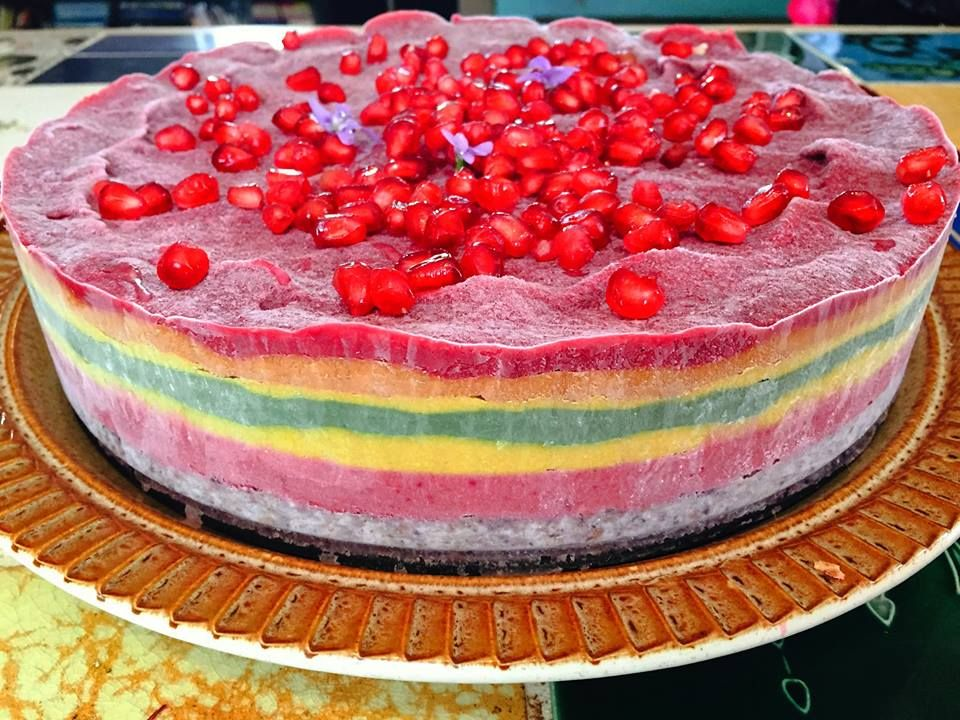 Here Is Zoes Recipe For The Raw Rainbow Cake This Cake Does