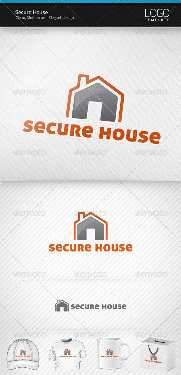 Secure House Logo | House logos, Logos and Logo templates