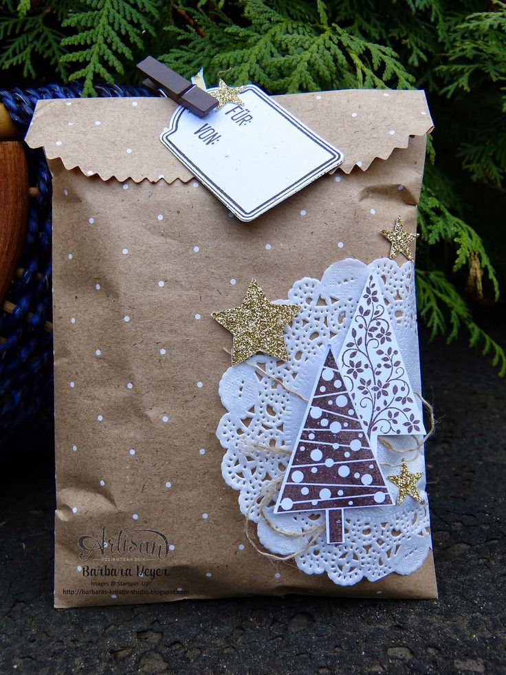 Photo of Barbara's creative studio: Christmas packaging – Artisan Design Team Blog …