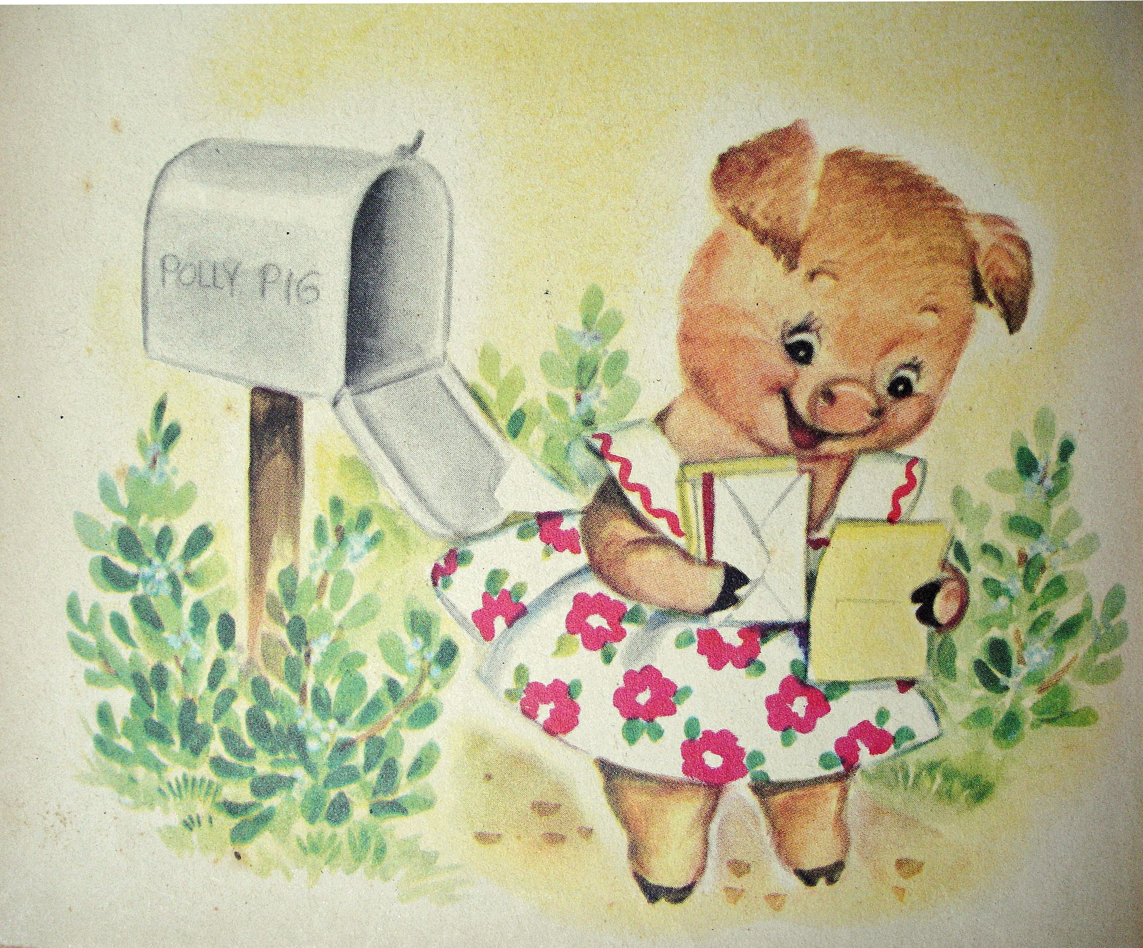 The Little Mailman Of Bayberry Lane Illustrated By Elizabeth Webbe Childrens Illustrations Cute Drawings Cute Art