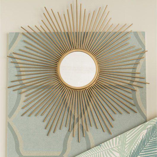25 Leroy Merlin Miroir Soleil Metal Dore Diam 55 Cm Miroir Soleil Miroir Miroir Metal