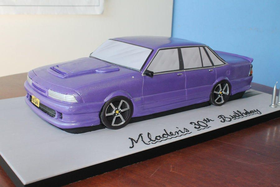 Purple Metalic VL Commodore with body kit Cake by Paul Delaney