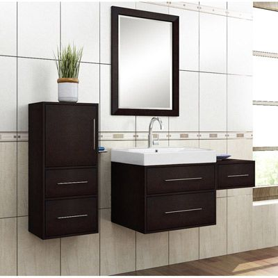 Willow Creek Fresco 24inch Single Sink Vanity With 15inch Drawer Box And 12inch Wall Hung Linen Tower Set Bathroom Vanity Small Bathroom Vanities Vanity