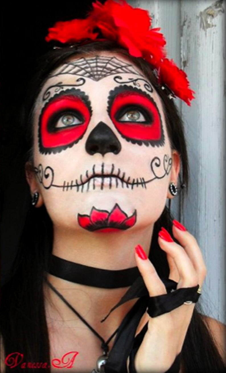 By Vanessa A Rainbow Makeup Mexican Skull Candy Skull Makeup Halloween Costumes Makeup Face Painting Halloween
