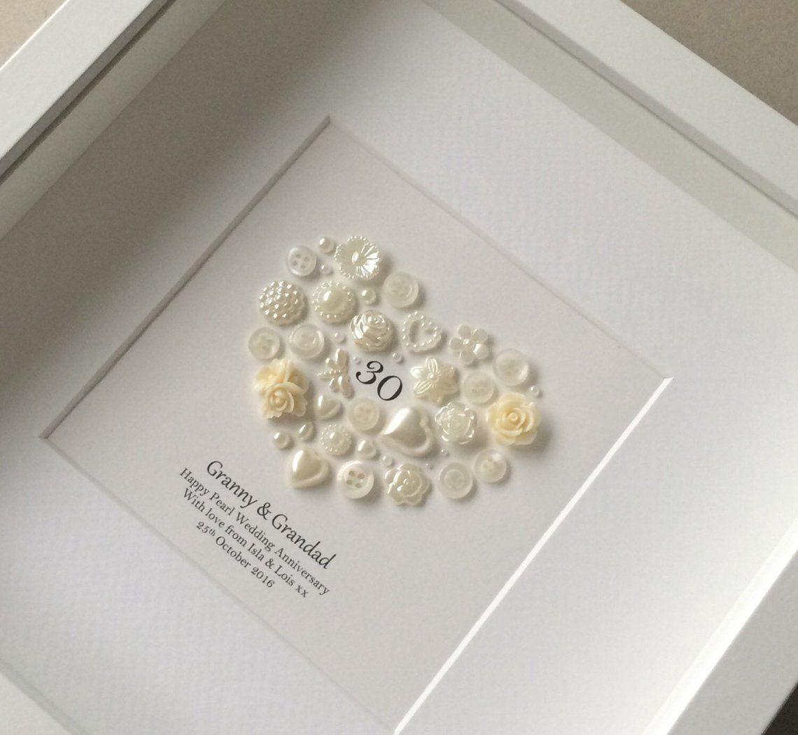 30th Anniversary Gift, Pearl Wedding Anniversary, 30th