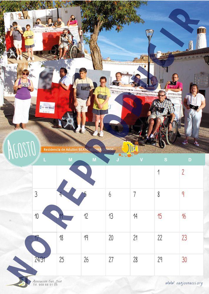 Mes de Agosto del Calendario Solidario 2015