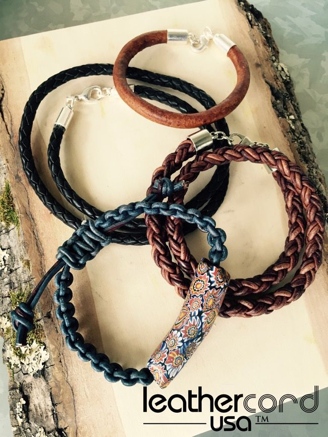 Make It Manly Diy Men S Leather Jewelry Mens Leather Jewelry