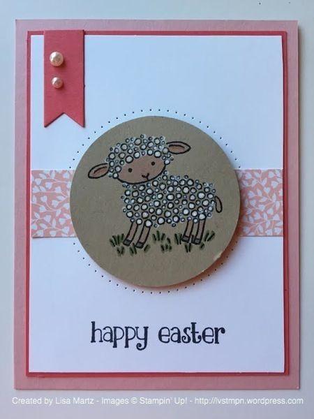 """Der Lämmchen-Stempel """"Easter Lamb"""" von Stampin' Up! sieht süß aus auf einer Karte zu Ostern. #stampinup #DIY #Ostern #Karte #Lamm"""