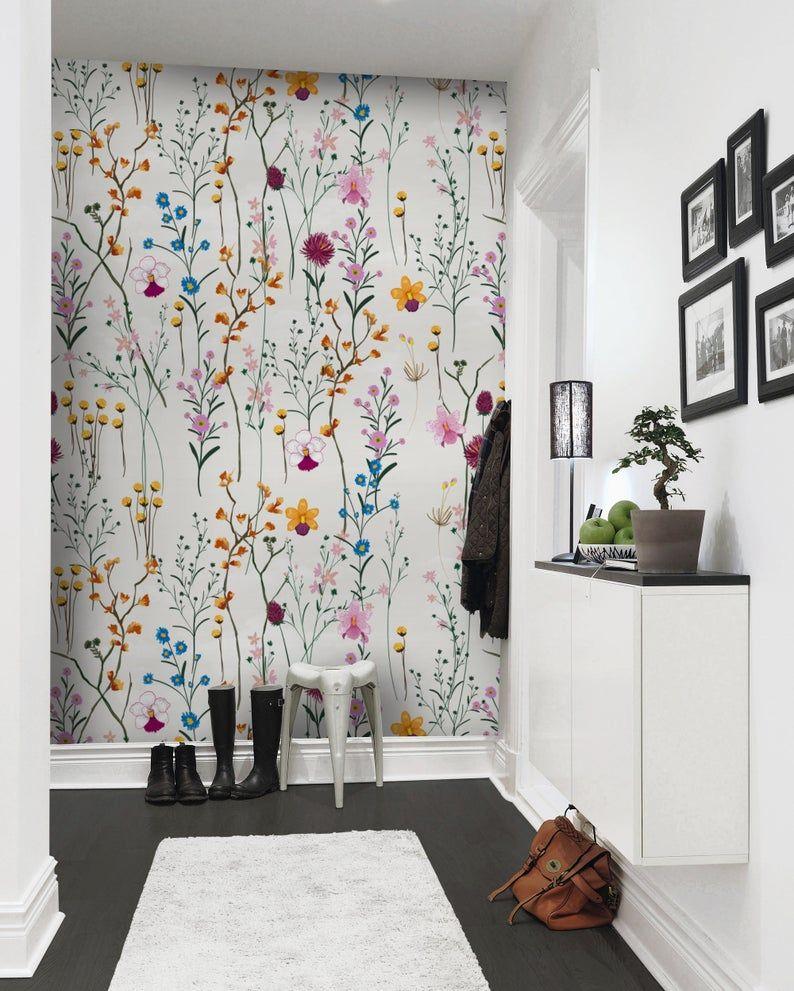 Floral Wallpaper Self Adhesive Peel and Stick Vintage