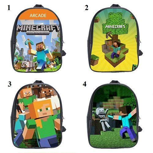 Backpack for your kids New Design Minecraft Logo School bag ...
