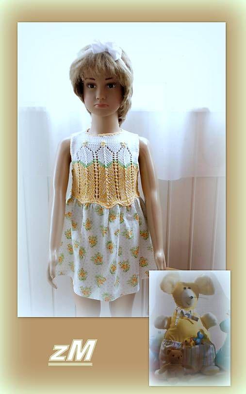 f66ff71e0a Šatočky bielo žlté (VLV)   Snezka - SAShE.sk - Handmade Detské oblečenie