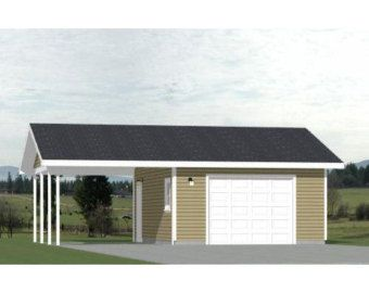 30x26 2 Car Garages 780 Sq Ft 12ft Walls Pdf Floor Etsy In 2020 Floor Plans Roof Framing Flooring