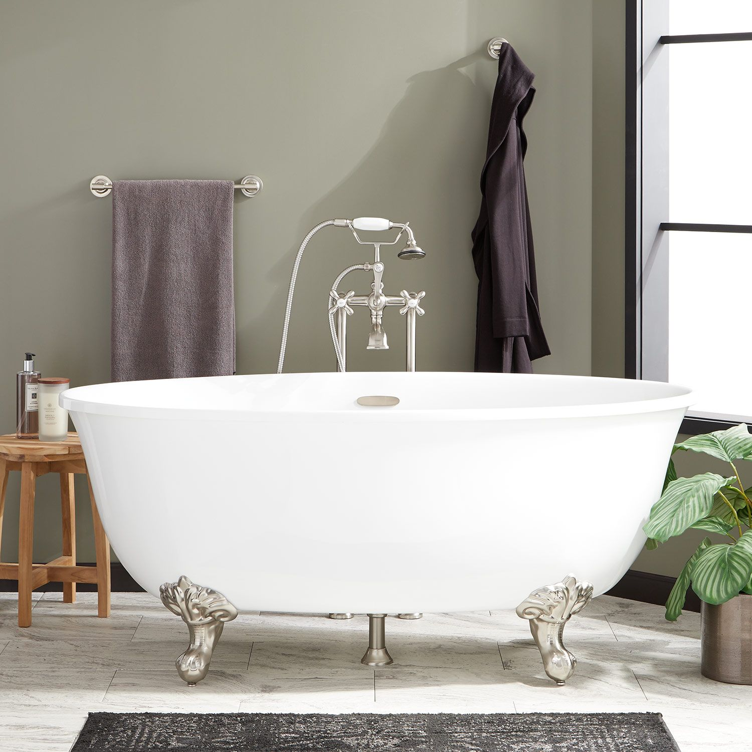 59 Watters Acrylic Clawfoot Tub In Imperial Feet Signature
