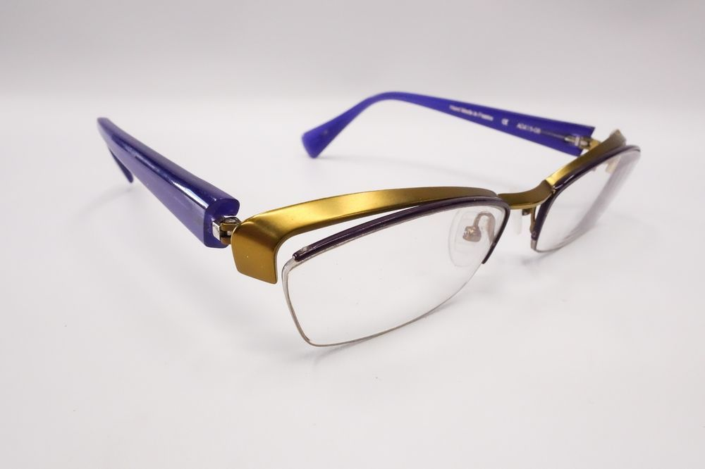 Alain Mikli Titane A0415-08 Rx Eyeglasses Frame Purple & Gold 54[]18 ...