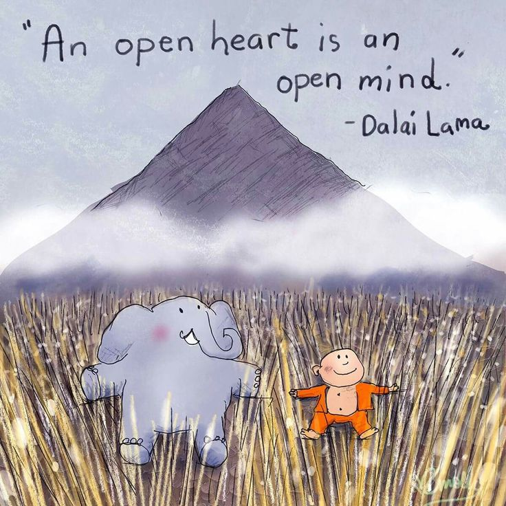 An Open Heart Is On Open Mind Dalai Lama Heart Mind Open Inner Think Quotes Buddha Doodle Buddha Thoughts Buddhism Quote