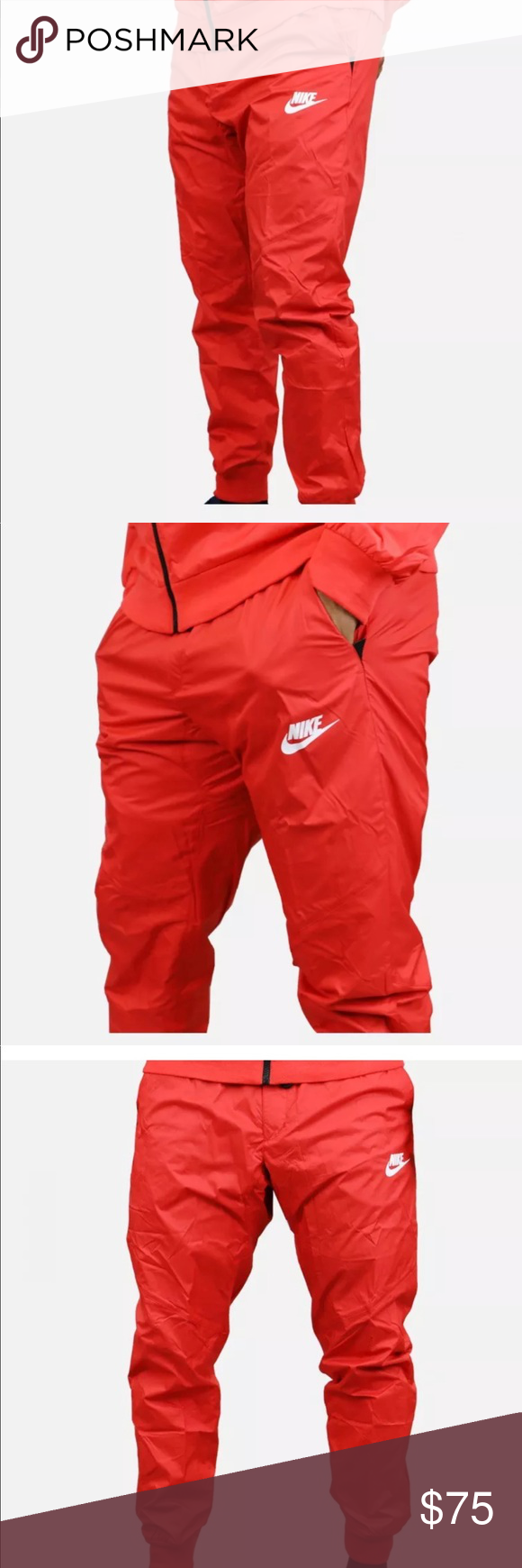 low priced 2a34d a4eb8 MENS XS NIKE WINDRUNNER CUFFED JOGGER PANTS The Nike Sportswear Windrunner  Mens Pants feature ripstop fabric