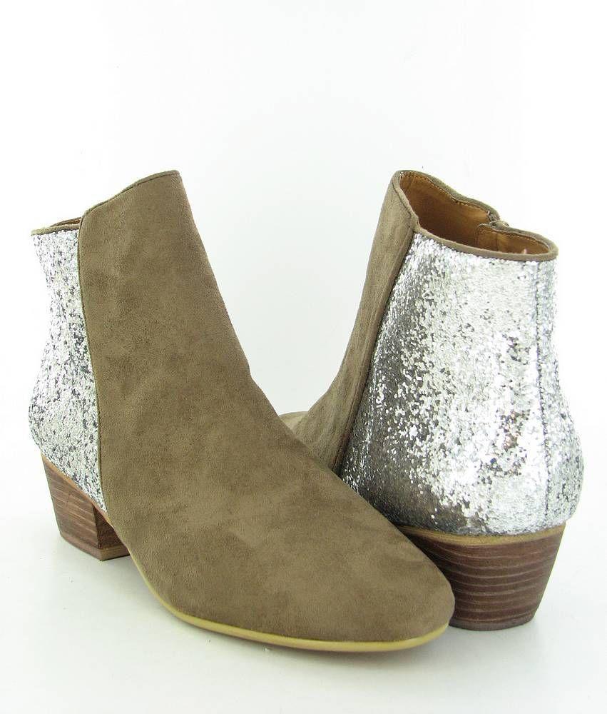 KELSI DAGGER Twinkle  Taupe/Silver Boots Womens size 10 M New $110 #KELSIDAGGER #FashionAnkle