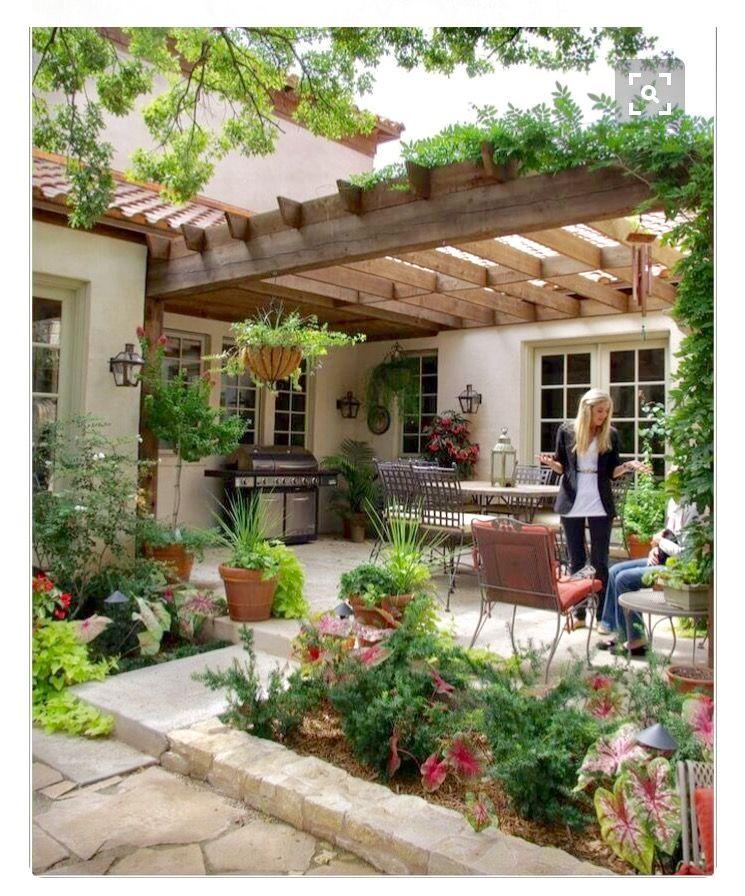 Pin de claudia de la vega en home garden pinterest terrazas jardines y campo - Jardines de casas de campo ...