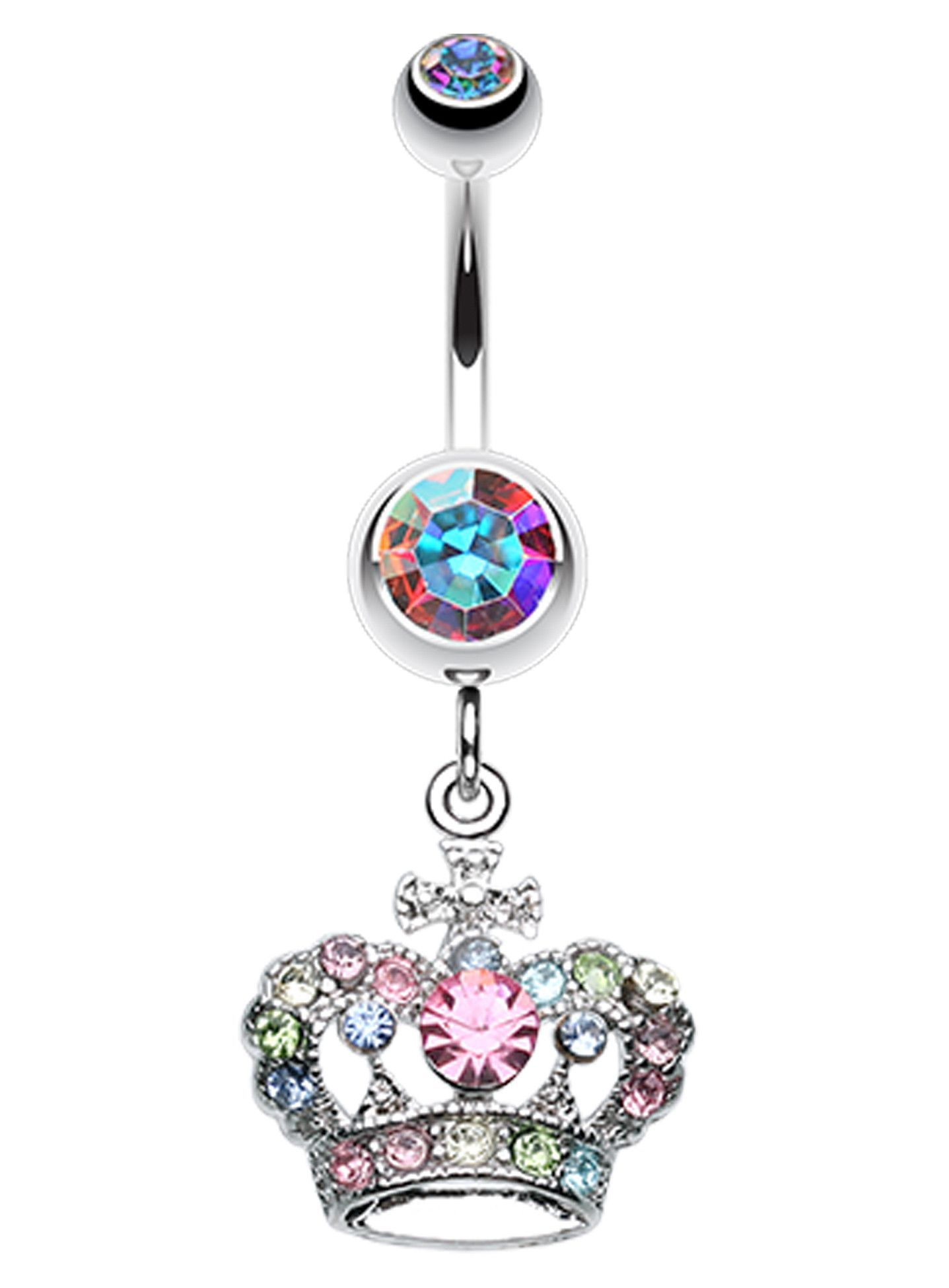 Belly button piercing stud  The Majestic Crown Belly Button Ring  My Style  Pinterest  Belly