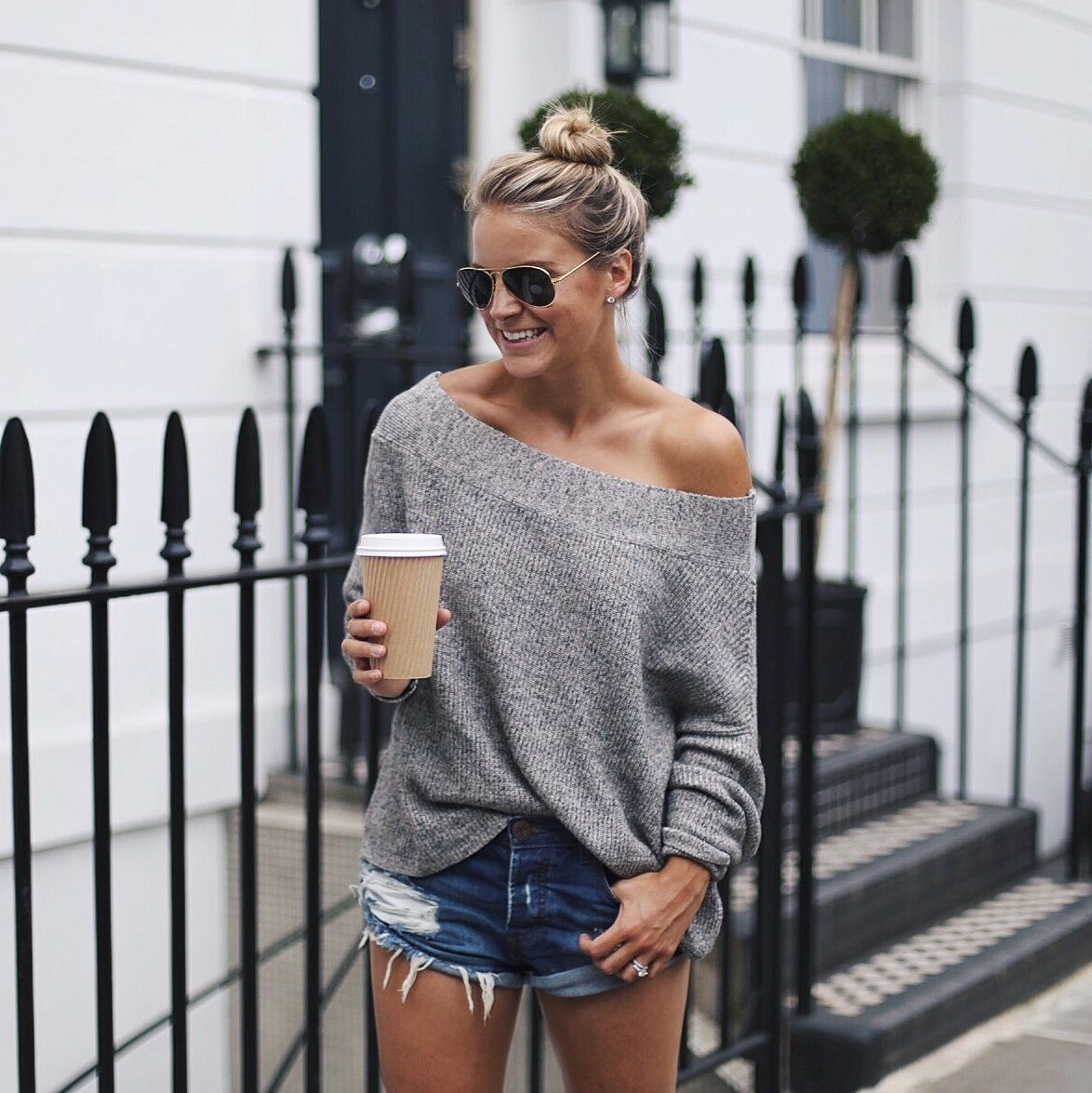 Off The Shoulder Sweaters By Styled Snapshots | Top Influencers ...