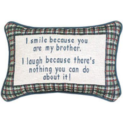 Manual Woodworkers & Weavers I Smile Because Brother Word Lumbar Pillow