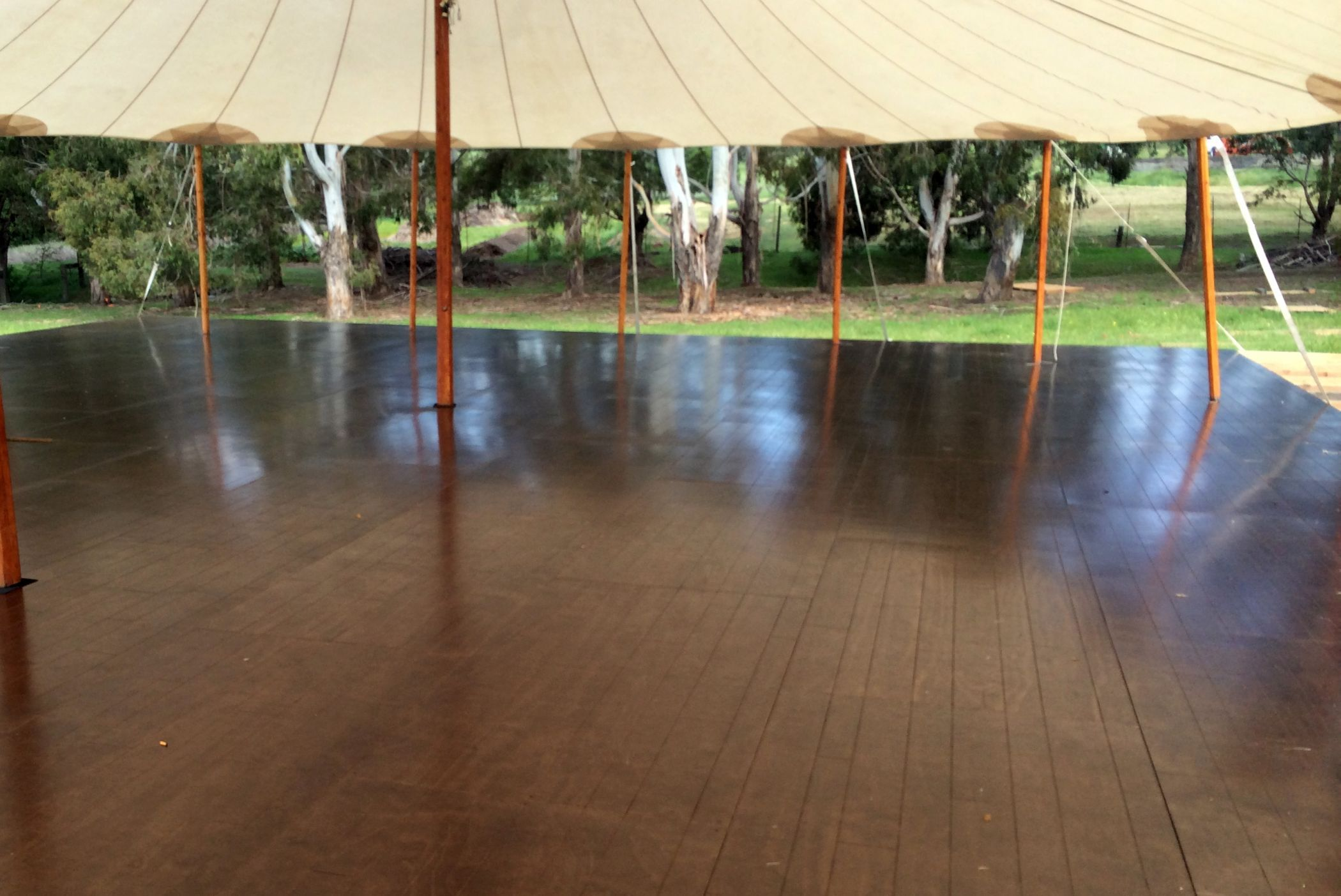 Walnut hardwood floors for Zephyr tent & Walnut hardwood floors for Zephyr tent | TamRon Wedding: Design ...